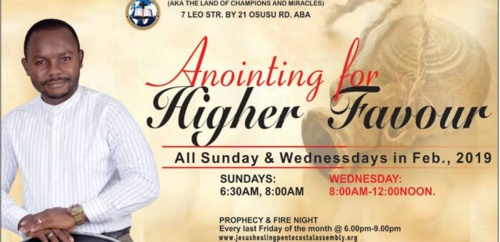ANOINTING FOR HIGHER FAVOUR